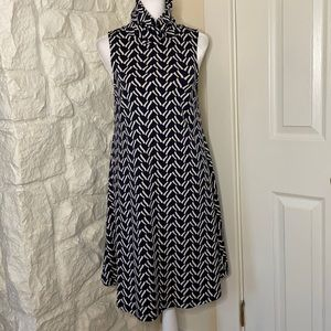 JB by Julie Brown NYC Navy Geometric Print Dress S